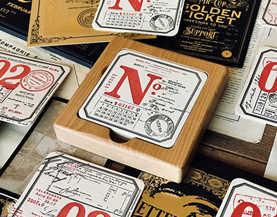 MAKE 100 / Letterpress coasters