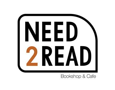 Need2Read - Bookshop & Cafe Branding