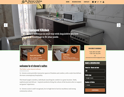Suites/Apartment website design