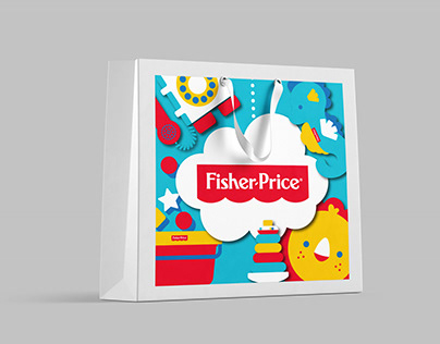 "Branded paper bag for ""Fisher Price"""