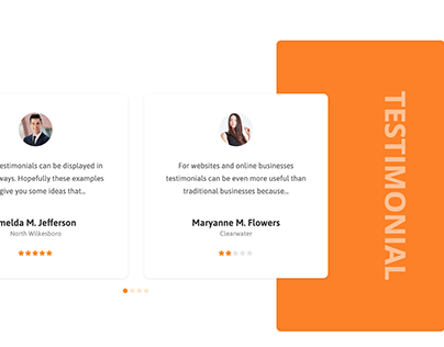 Testimonial carousel design with elementor pack and wp