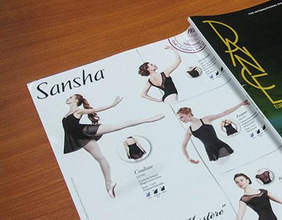 Sansha Magazine Advertising
