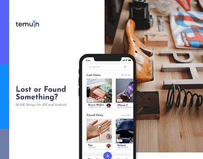 Temuin UI/UX - Lost or Found App