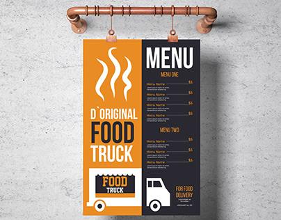 Food truck Menu-Poster Design