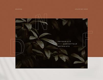 NDF Paysagiste, botaniste | Logo & Brand Identity