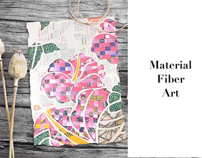 Material fiber art  Ⅰ  Hibiscus