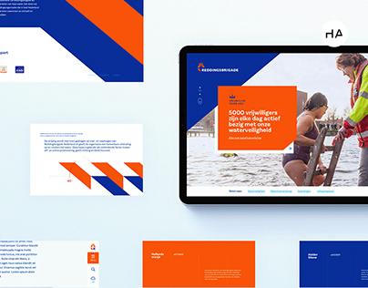 Reddingsbrigade - Corporate website UX/UI