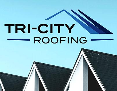Tri-City Roofing Logo, Brand Identity + Website Design