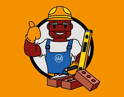 Baksteen Mel Mascot