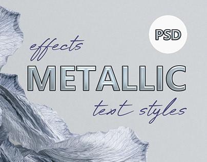 35+ Shiny Photoshop Metallic Text Styles / Effects