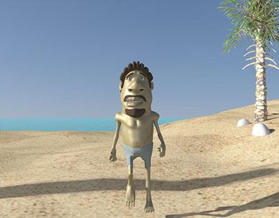 """Animação 3-D """"O naufrago"""""""