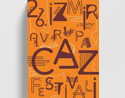 26th Izmir European Jazz Festival Poster