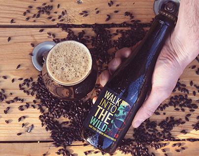 Beer & Hand Black Malt Mockup