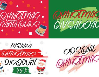 Christmas santa claus font