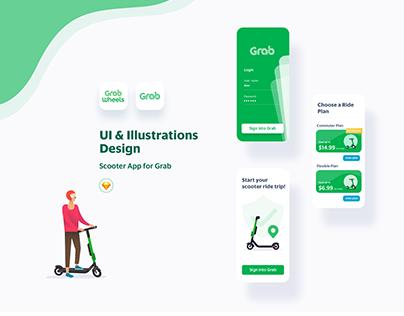 UI & Illustration Design for GrabWheels