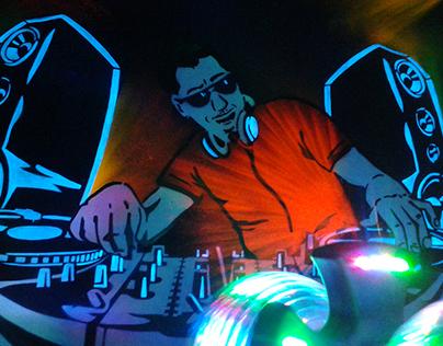 Mr. DJ in fluor