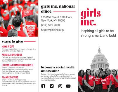 Girls Inc. Brochure Project