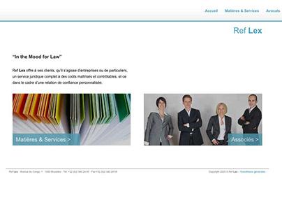 Ref Lex - Wordpress website