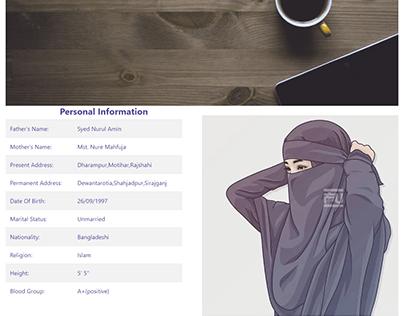 Portfolio Website with html,css & bootstrap