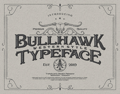 Bullhawk Western Style Typeface