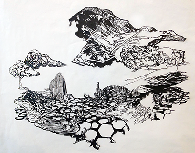 Papercutting: The Giant's Causeway