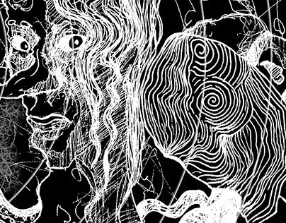 """EN+, About Monsters"" zine illustrations"