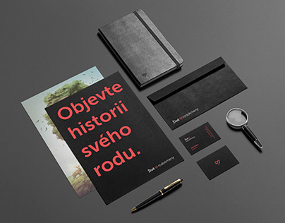Corporate Identity & Illustrations | Živé rodokmeny