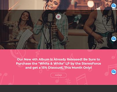Music Responsive WordPress Website