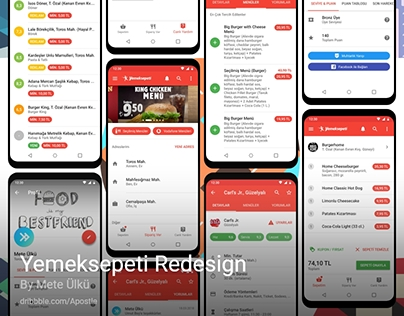 Yemeksepeti Redesign - Local Food Delivery - Redesign