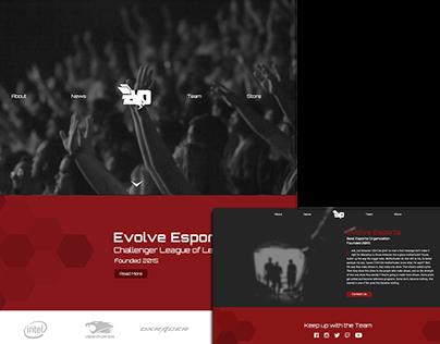 Evolve eSports Website Design