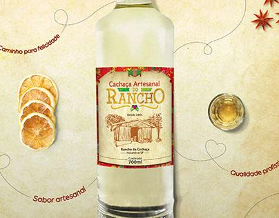 Rótulo para Cachaça, pousada Rancho