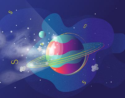 Яркий Сатурн