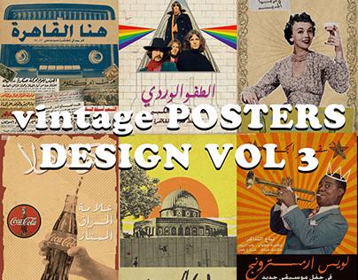vintage POSTERS DESIGN VOL 3