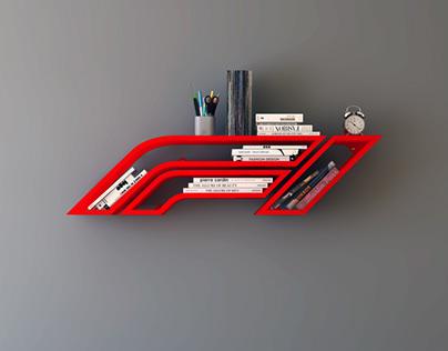 Formula 1 iron bookshelf