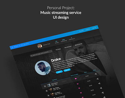 Music Streaming Service UI