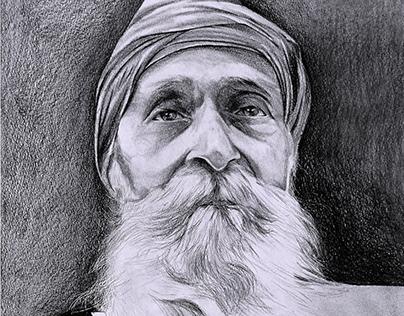 OLD MAN - Pencil & charcoal sketch by Kamal Nishad