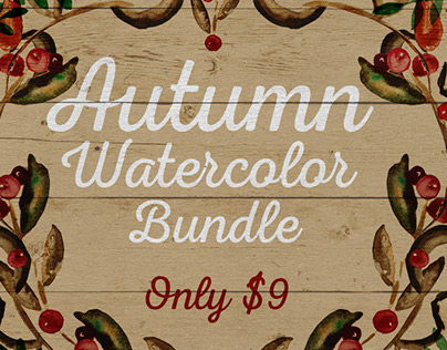 Autumn Watercolor Bundle
