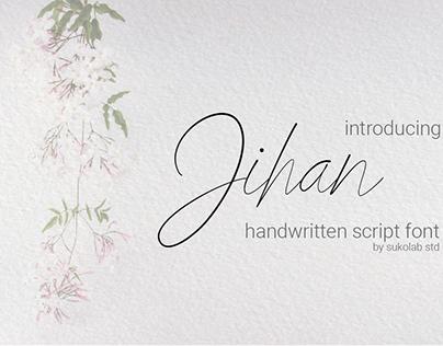 Jihan - Script handwrittern font