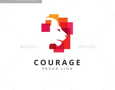 Courage Lion Logo
