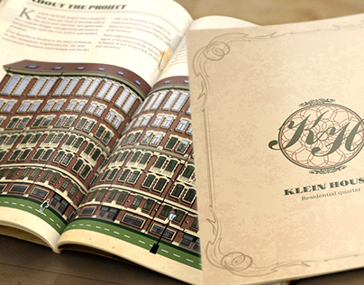 """Brochure A4 for the investment project """"Klein-House"""""""