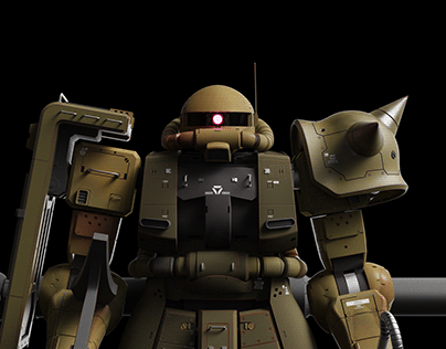 ZAKU - CAD and Rendering Project