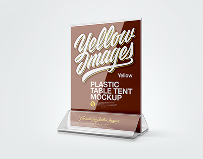 Table Tent Mockup On Behance - Plastic table tents