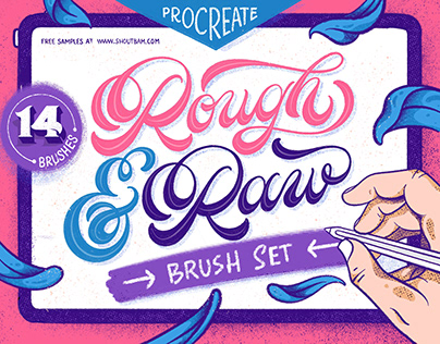 Rough & Raw - Procreate Brush Set + FREE Samples