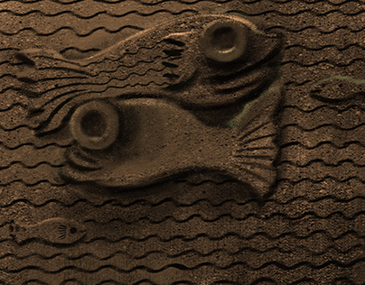 FISH TANK│RELIEF SCULPTURE INSPIRED ILLUSTRATION 2018