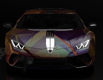 GOLD&WINE Lamborghini Huracan wrap project