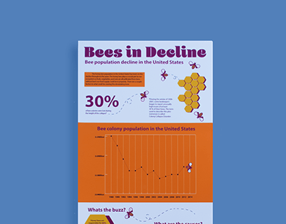 Bee's in Decline Infographic