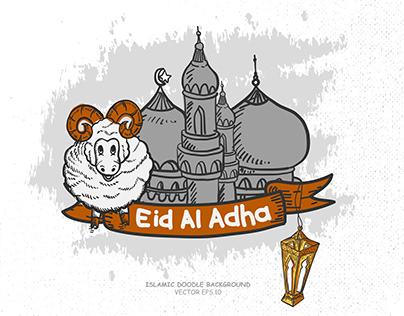 Hand drawn Vector of EID Al Adha