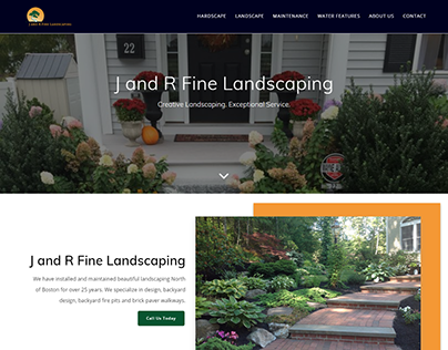 New Website for J and R Fine Landscaping