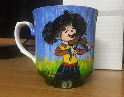 Commissioned Mug Acrylic Painting