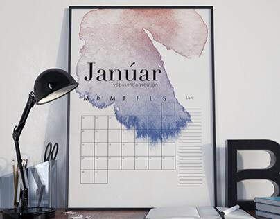 Calendar - for organizing 2017